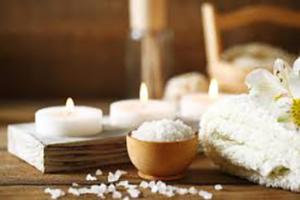 Titelbild - Kerzen, Salzschale, Wohlfühlen